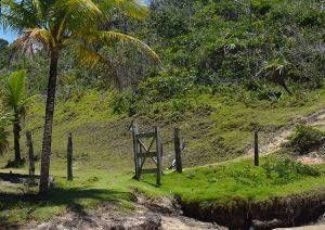 Portão de entrada para Trilha