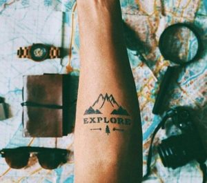 Tatuagens para quem gosta de viajar.